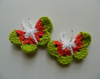 Crochet Butterfly Magnet set of 2