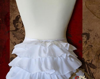 Victorian Bustle Pad with Ruffles