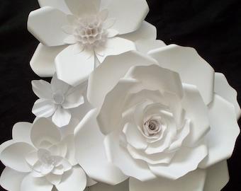 Nursery Paper Flower,Large Paper Flower,Nursery Paper Backdrop,Wedding Backdrop,White Paper Flower,Backdrop,Flower Photo Prop,Paper Flower