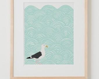 Fine Art Print.  Seagull.  July 23, 2012.