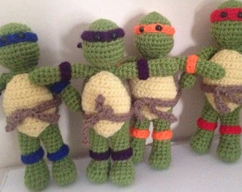 Crochet Ninja Turtles Pattern