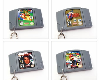 Various Nintendo 64 N64 Cartridge Keychain