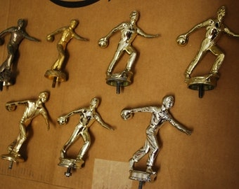 Lot of 7 Vintage BOWLING TROPHY FIGURINES