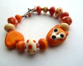 handmade lampwork fox bracelet