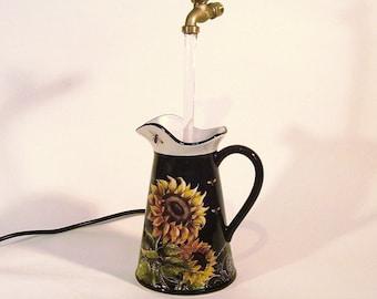Sunflower Pitcher Fountain