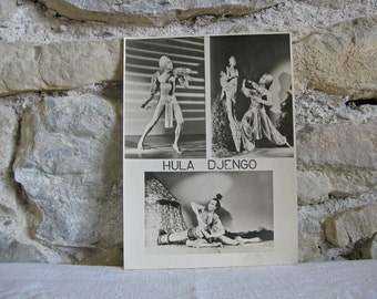 photo of French female impersonator Hula Djengo from the 1950s
