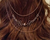Hair piece, chains with combs (HP9)