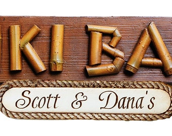 Tiki Bar Large Personalized Sign