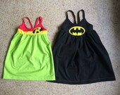 Batman and Robin Inspired Dress Set