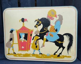 Vintage Edward Sharp & Sons Ltd Tin. Fancy French Decoration.