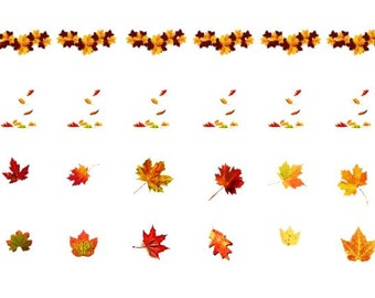 Nail Decal-Fall Leaves