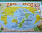 Tea Towel Vintage from - New Zealand - GodZone Country