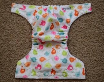 One Size Little Birdies Cloth Diaper