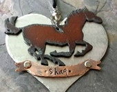 Personalized Horse Keepsake Ornament-Custom Holiday Ornament-Horse Keepsake--Horse Lover Christmas Gift