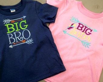 Big/Lil Bro Big/Lil Sister Monogrammed Monag Shirts