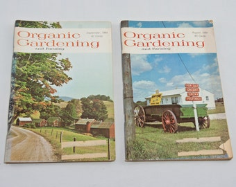 Set of 11 Organic Gardening Magazine Collection 1969, Vintage Garden Magazines, Urban Homestead, Vintage Organic Garden (set of 11)