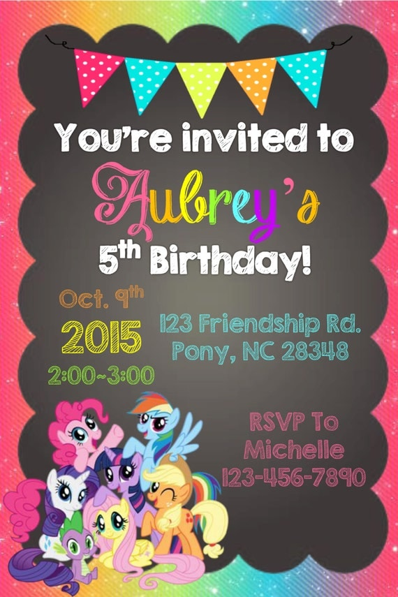 Invitation My Little Pony with perfect invitations template