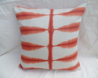 """Clearance Modern retro 16"""" orange and beige cushion cover, pillow, pillow case, scatter cushion."""