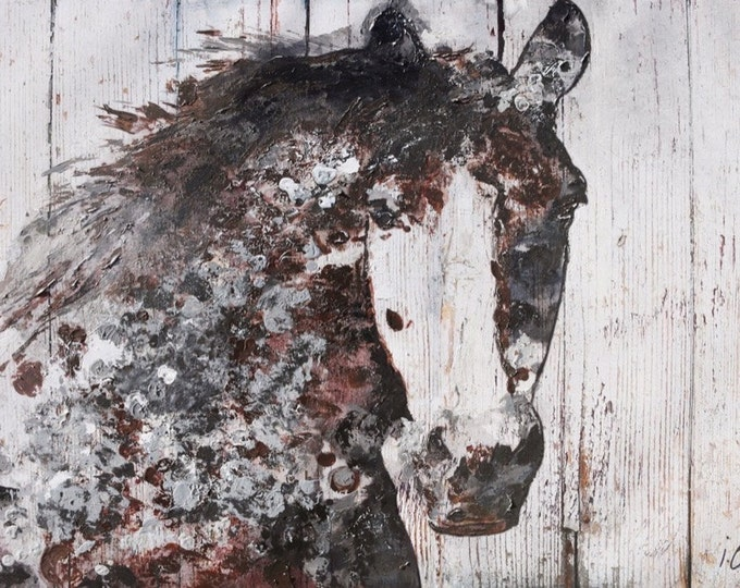 """Gorgeous Brown Horse. Extra Large Horse, Horse Wall Decor, Brown Rustic Horse, Large Contemporary Canvas Art Print up to 72"""" by Irena Orlov"""