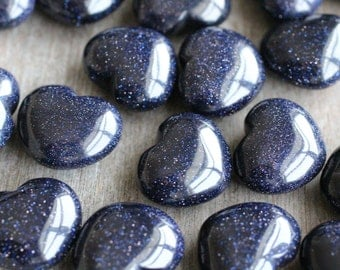 Blue Goldstone Heart #H10