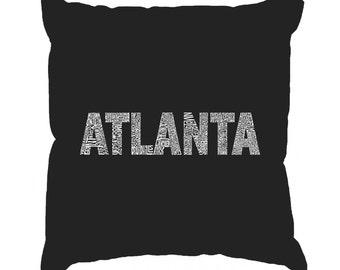 Throw Pillow Cover - Word Art - ATLANTA NEIGHBORHOODS