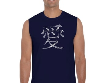 Men's Sleeveless Shirt - The Word Love in 44 Languages