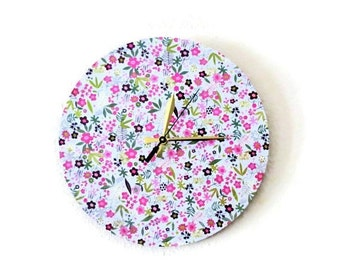 SALE, Shabby Chic Wall Clock, Decor and Housewares, Home and Living,  Home Decor, Eco Friendly Art,Wall Clock,