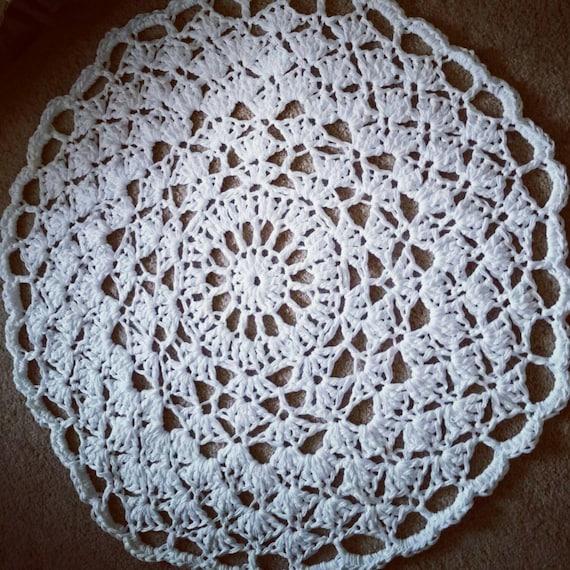 Cotton Crochet Doily Rug