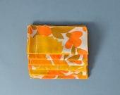 SALE Six Vintage Vera Napkins - Yellow, Orange Flowers