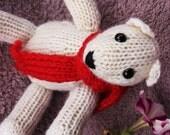 Polar Bear, Plush Toy, Natural Teddy, Wool Materials, Christmas Bear
