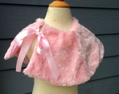 READY TO SHIP Blush Pink Fur Capelet One Size