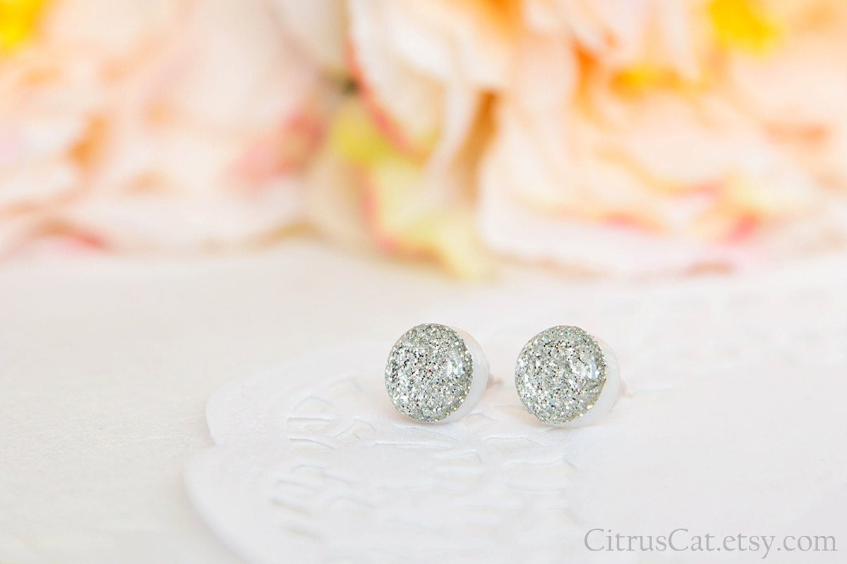 https://www.etsy.com/listing/250938185/glossy-silver-glitter-mini-stud-earrings