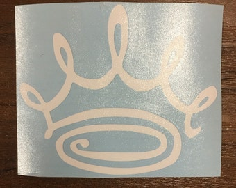 Zeta Crown Monogram Vinyl Decal