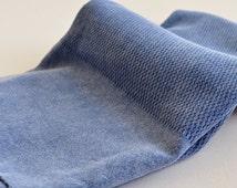 Turkish Towel Peshtemal towel Cotton Peshtemal Stone washed waffle pattern Blue Towel