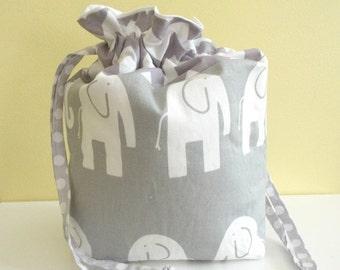 BACK 2 SCHOOL SALE Large Wet Bag - Drawstring Bag - Fabric Basket