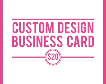 Business Card, Business Card Design, Custom Logo, Made to Match Business Card, Custom Business Card, Business Card Jpeg