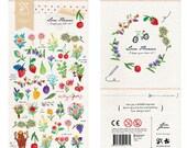Diary Scrapbook 3D Embossed Sticker Label Sonia Love Flower