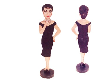 Maria Callas Hand Painted 2D Art Figurine