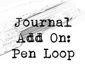 Add On to Handmade Journal- PEN LOOP
