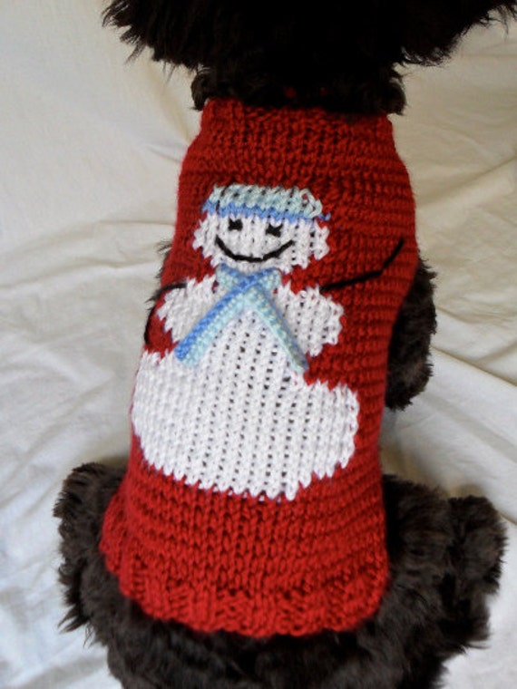 Snowman dog sweater knitting pattern PDF for by ...