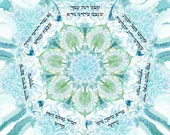 Judaica- Ana b'koach- Kabbalistic prayer -print on paper 180gr-registered mail