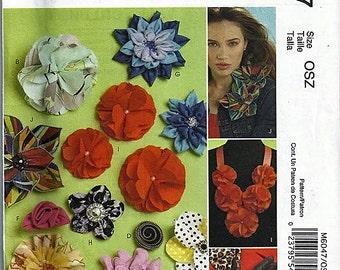 Fabric Flowers / Original McCall's Fashion Accessories Uncut Sewing Pattern M6047