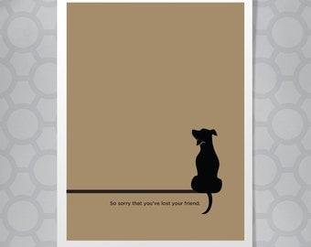 Illustrated Dog Pet Sympathy Card