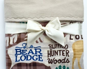 Flannel Baby Blanket - Toddler Bedding - Woodland Baby Blanket- Baby Boy Blanket - Rustic Baby Bedding - Cot Blanket - Buffalo Plaid Blanket