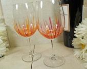 Hand Painted Wine Glasses, Wine Glass Set, Painted Wine Glasses, Handpainted Glasses, Friend Birthday Wine