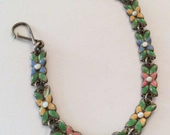 Art Nouveau Enamel Bracelet, Arts & Crafts Movement, Vintage Jewelry, NEW YEAR SALE