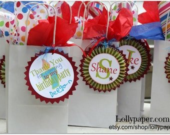 Party Favors/Gift Tags - Custom Made