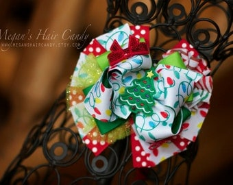 Christmas Tree Boutique Hair Bow