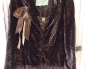 Rayon Velvet Jacket Blazer Dark Brown Altered Embellished Stevie Nicks Bohemian Shabby Chic Upcycled Perfect Womans Medium