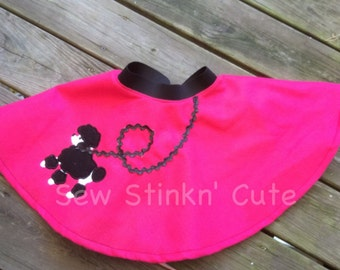 Machine Appliqued 50s Style Poodle Skirt